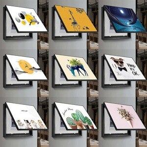 Caja eléctrica de 3 tamaños, cuadros artísticos de pintura al óleo, pintura decorativa, caja de alimentación, caja de interruptor, decoración de pinturas ocultas