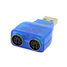 USB Male to Dual PS2 Female Adapter Converter Use For Keyboard Mouse Connector Converter Mouse Adapter Plug Play(China)