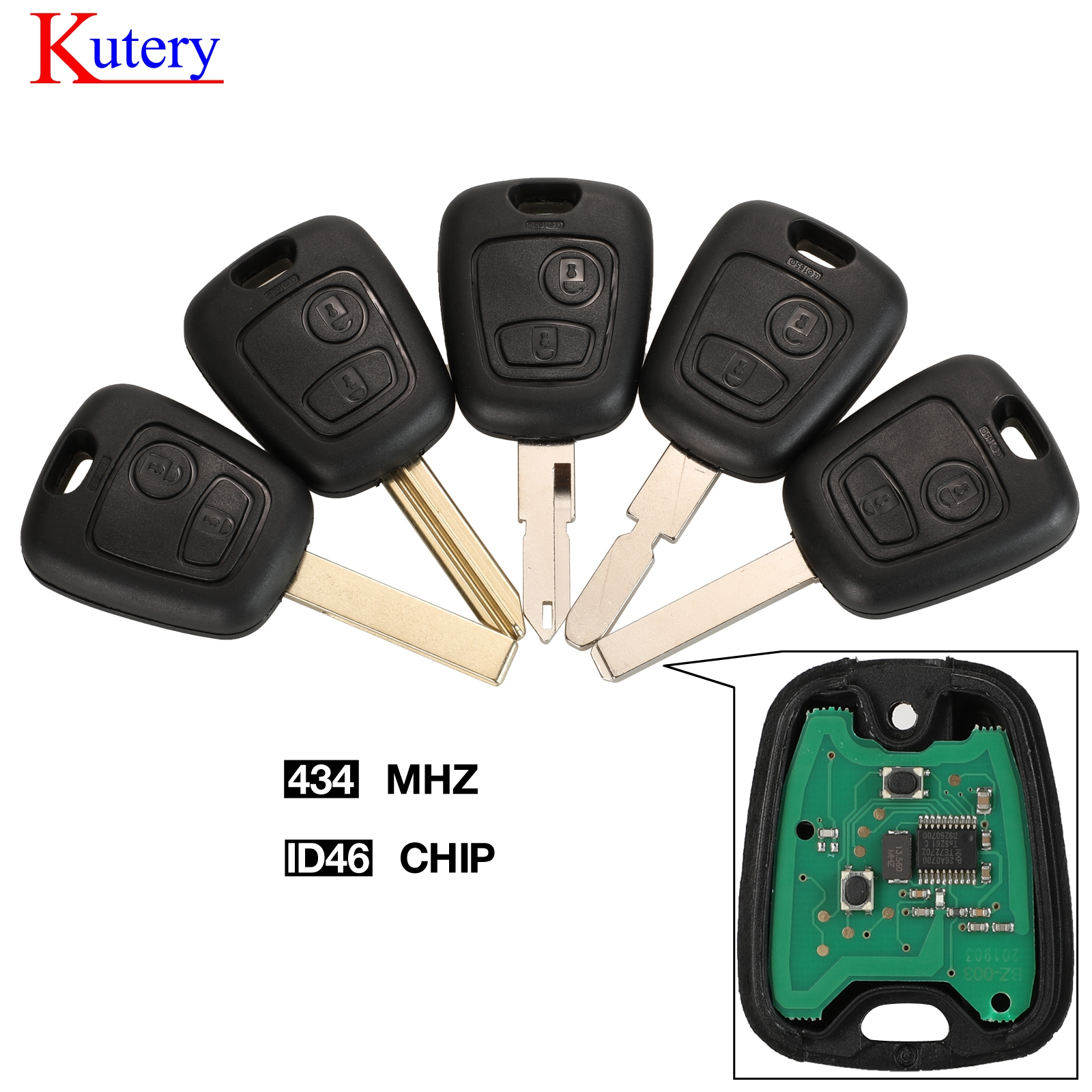 kutery Remote Car Key Fob For Citroen C1 C2 C3 C4 Saxo Picasso Xsara Picasso Peugeot 106 206 306 307 107 207 407 Partner image