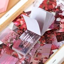 JIANWU – Livret de 50 autocollants style Instagram en papier washi, feuilles étiquettes adhésives pour la décoration, scrapbook, journal, papeterie, bricolage, bloc-notes, fournitures de bureau