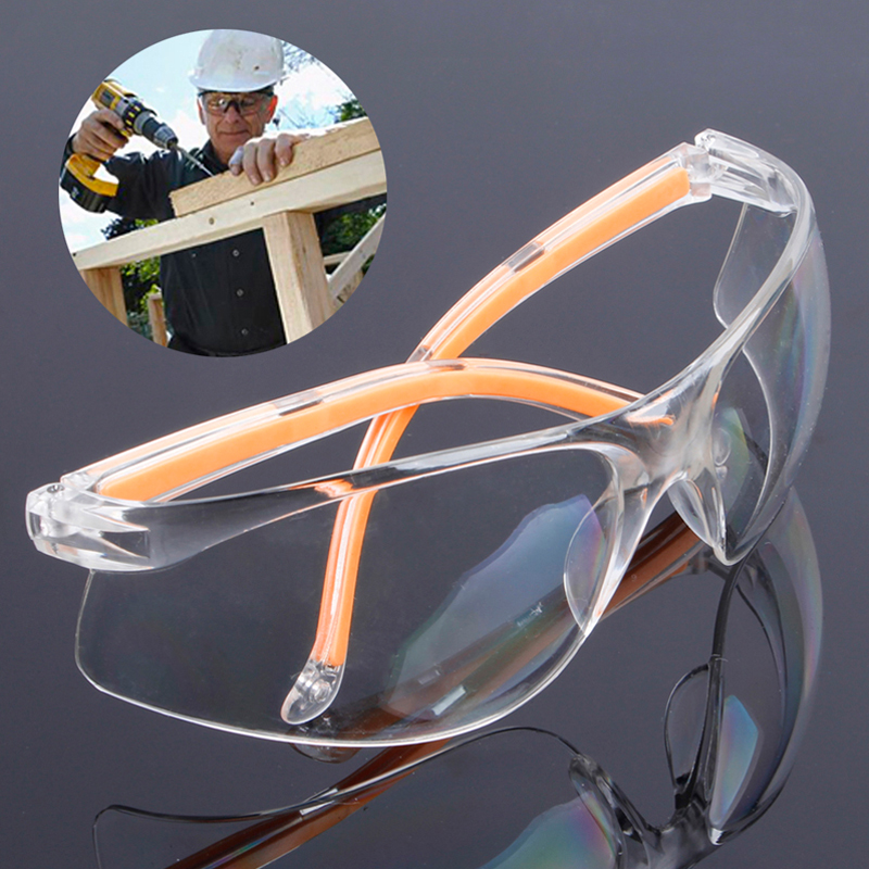 Safety Glasses Clear Anti-impact Factory Lab Outdoor Work Eye Protective Safety Goggles Glasses Anti-Dust Lightweight Spectacles