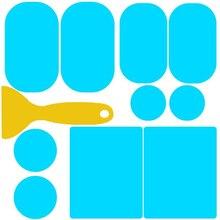 4 шт./компл. автомобиля прямоугольный Плёнки Зеркало заднего вида защитный Многофункциональный Водонепроницаемый Плёнки боковое окно зеркало анти-туман Плёнки