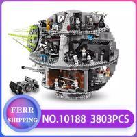 05035 строительные блоки «Звездные войны», кирпичи, «Звездные войны», TIE Fighter, совместимые с LegoINGlys 10188, развивающие игрушки, детские подарки