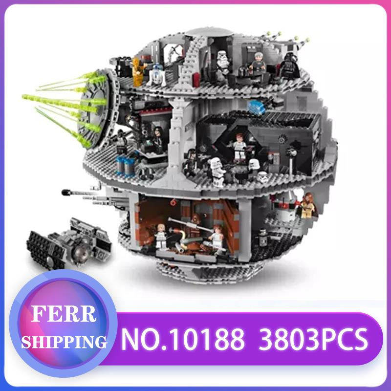 05035 Star Wars Building Blocks Bricks Death Star Wars TIE Fighter Compatible With LegoINGlys 10188 Educational Toys Kids Gifts image