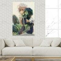 Póster de Hunter X Hunter Meruem y Komugi, cartel de pintura decorativa, lienzo, arte de pared, carteles de habitaciones, dormitorio