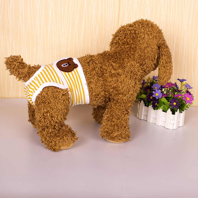 Sanitarne spodnie sanitarne Dla psów miesiączkowe pieluszki Dla psów spodnie Dla psów pieluchy zmywalne pieścić Majtki Dla Psa bielizna Dla zwierząt XX60DP