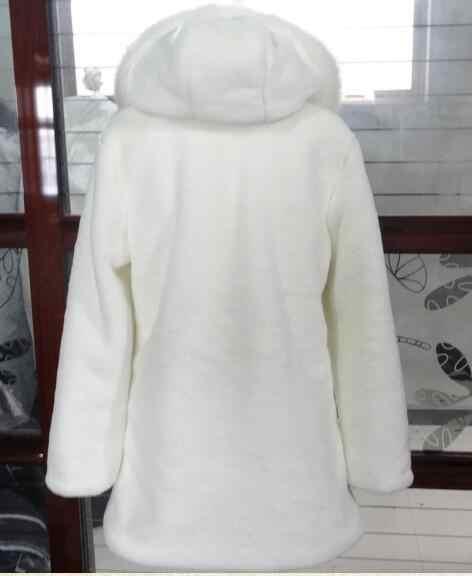 أعلى 2019 أعلى الشتاء الخريف المرأة الثعلب فو الفراء معطف فرو منك طويل منفوش الاصطناعي الفراء فام وهمية الفراء أبلى ZM18