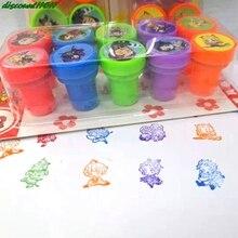 10Pcs/Set Cute Anime Demon Slayer Kimetsu No Yaiba Children Toy Stamps Cartoon Kids Seal Kids Gift Kamado Tanjirou Kamado Nezuko
