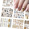 12 шт., переводные наклейки для дизайна ногтей