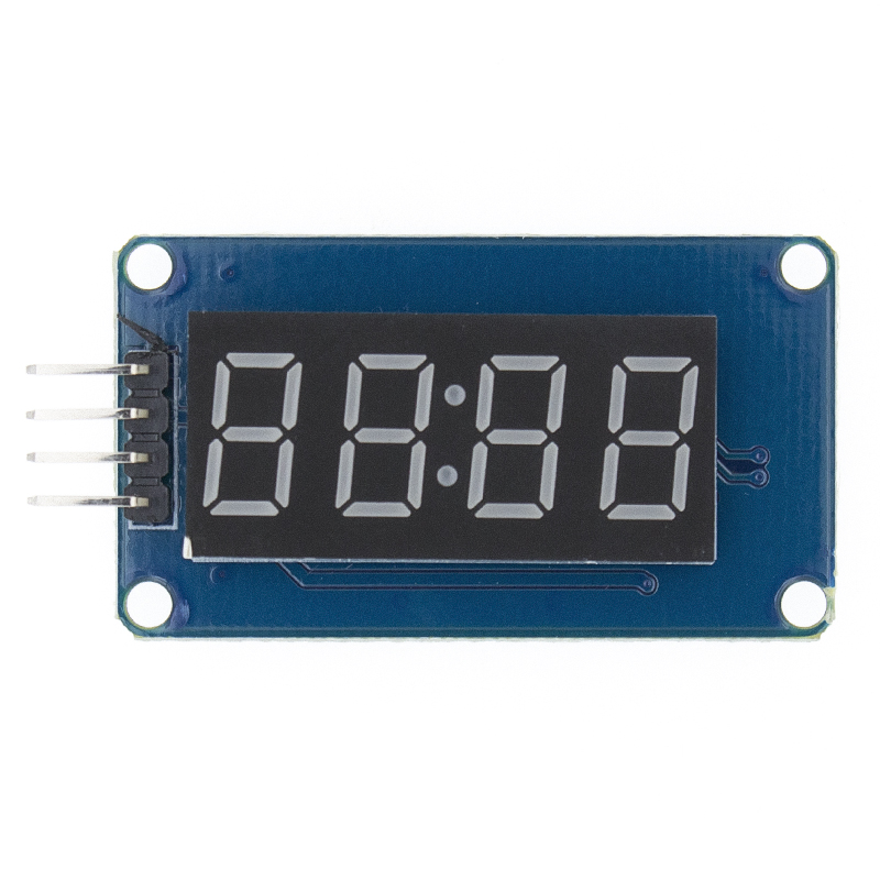 New 100pcs 4 Bits TM1637 Red Digital Tube LED Display Module & Clock LED-in Integrated Circuits from Electronic Components & Supplies