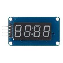 Yeni 100 adet 4 bit TM1637 kırmızı dijital tüp LED ekran modülü ve saat LED