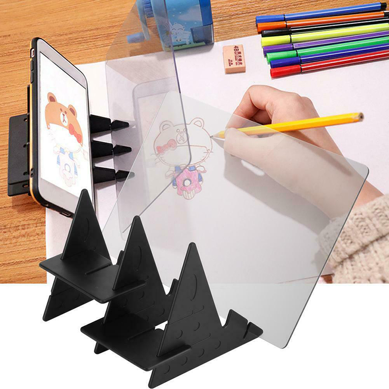Изображение доска для рисования эскиз отражение Затемнения Кронштейн шаблон для рукоделия пластины калькирование, копирование таблицы проекции Linyi коврик для моделирования