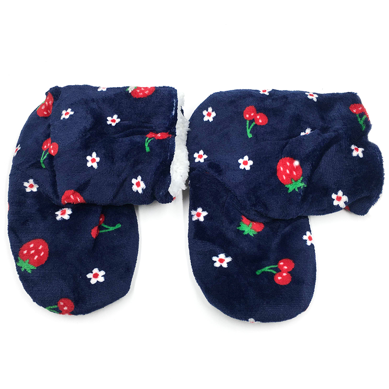 Women Plush Home Shoe Flush Strawberry Indoor Floor Sock Winter Foot Warmer Soft Bottom Slippers Footwear in Slippers from Shoes