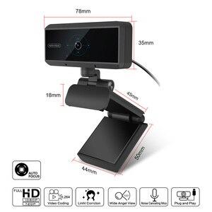 Image 4 - Cámara Web Digital Full HD 1080P con enfoque automático, USB, micrófono, ordenador, 5 megapíxeles