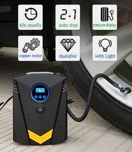 Image 2 - EAFC Car Portable Air Compressor Pump 150 PSI Digital Tire Inflator DC 12 Volt Auto Aire Pump for Car Motorcycle LED Light