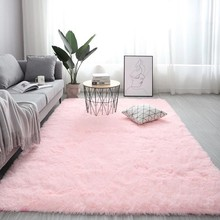 Nordic fluffy carpet rugs for bedroom/living room rectangle Large size plush anti-slip soft carpet white pink red 13 colors
