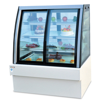 CF 1200 Luxury Front and Rear Door Display Cabinet Commercial Cake Shop Western Restaurant Food Fast Refrigeration Cabinet R134A