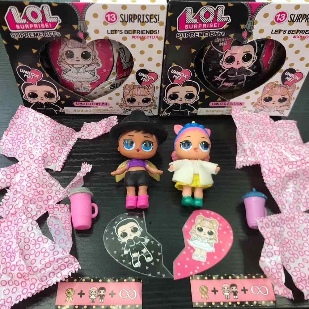 Original lol surpirse bonecas 5th geração cabelo metas magia diy aleatória lols bonecas figura de ação modelo de brinquedo da menina presente