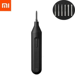 Image 1 - Электрическая/ручная отвертка Xiaomi Mijia, интегрированная отвертка, 1500 мАч, аккумуляторная, с 6 S2, набор электрических винтовых бит
