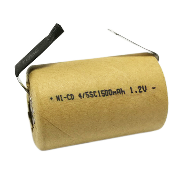4/5SC Battery 1.2V 1500mAh Ni-CD Rechargeable SC Battery with welding tabs for Flashlight Power Bank Power Tools Torch Battery