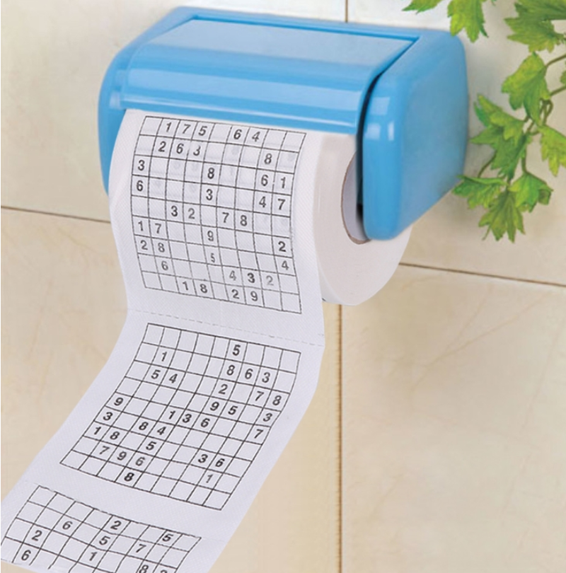 Durable Sudoku Su Printed Tissue Paper Toilet Roll Paper Good Puzzle Game Novelty Gift Funny Toilet Paper Tissue