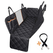 Dog Car Seat Cover Pet Carrier Waterproof With Pet Safety Belt Car Rear Back Seat Mat Hammock Cushion Protector dropshipping