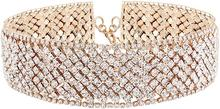Luxury Rhinestone Chain Choker Necklace Girls Crystal Choker Necklace Gold Bride Collar Party Necklace For Womens Jewelry Gifts luxury rhinestone chain choker necklace girls crystal choker necklace gold bride collar party necklace for womens jewelry gifts