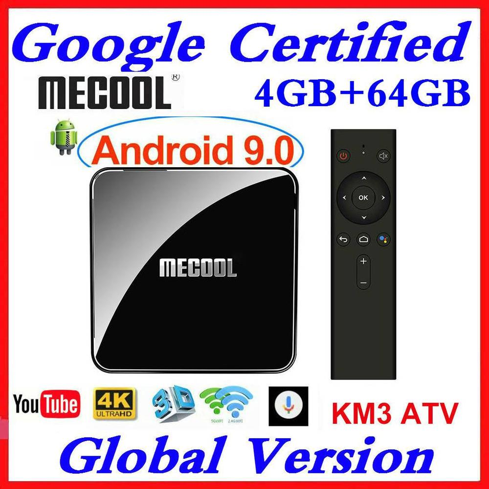 <font><b>Mecool</b></font> <font><b>KM9</b></font> PRO <font><b>TV</b></font> <font><b>BOX</b></font> <font><b>Android</b></font> 9.0 Google Certified <font><b>S905X2</b></font> 4K Media Player 2.4/5G WiFi KM3 ATV Smart Set Top <font><b>Box</b></font> 4GB RAM 64GB ROM image