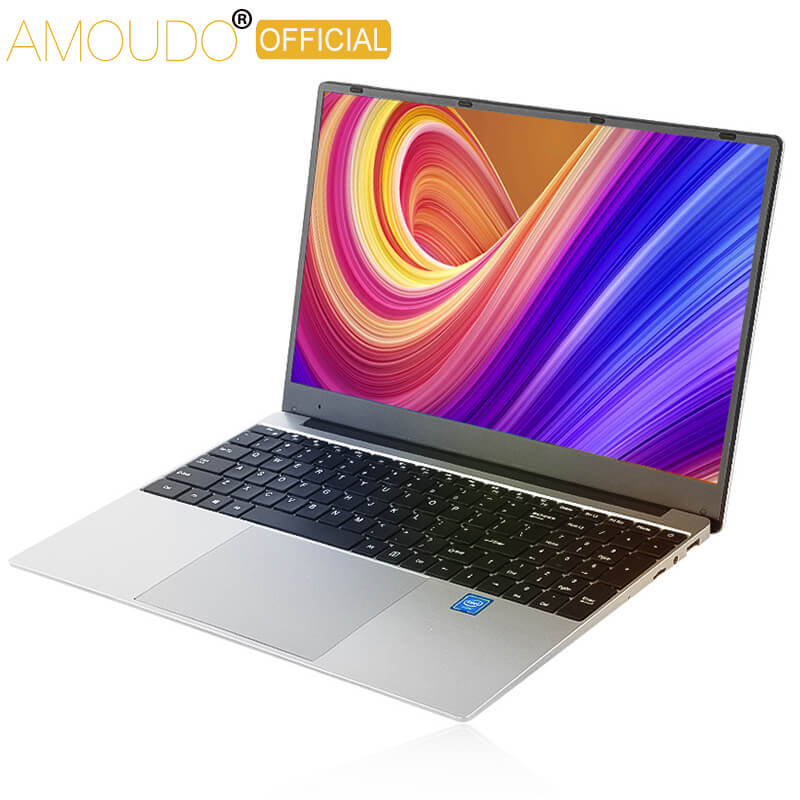 AMOUDO 15.6 Inch 1920*1080 Laptop Win10 System Intel Celeron Ultrabook 8GB RAM Up To 1TB SSD I7 CPU Gaming Laptop Computer