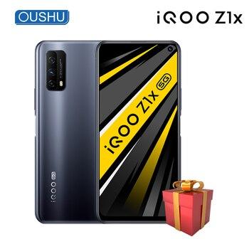 Перейти на Алиэкспресс и купить В наличии vivo IQOO Z1x 6G 128G мобильный телефон 5G 5000mAh большой аккумулятор 33W Мобильный телефон Android 10,0 120Hz гоночный экран