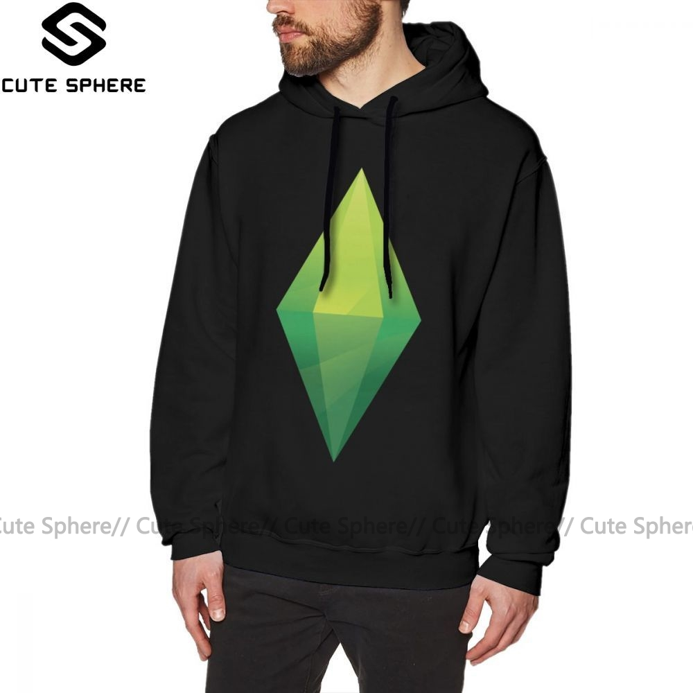 The Sims Hoodie The Sims Plumbob Hoodies Winter Male Pullover Hoodie Red X Cotton Fashion Long Loose Hoodies