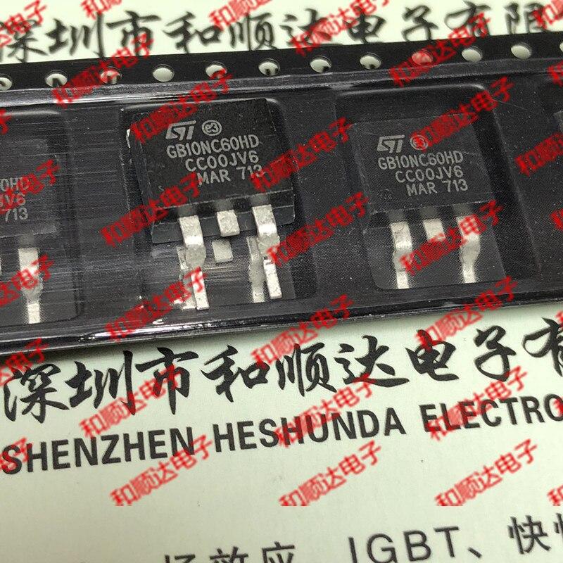 10pcs/lot GB10NC60HD STGB10NC60HD New Stock TO-263 600V 10A