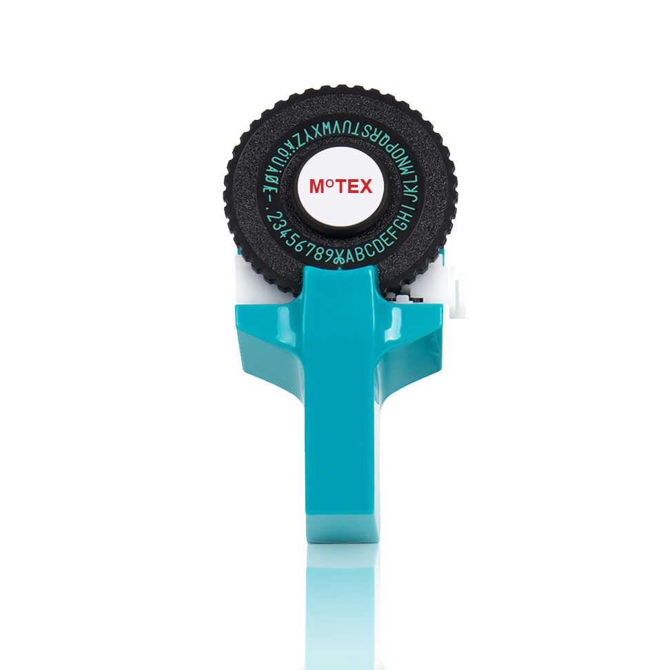 Impresora MoTex E101 Color azul cielo, Mini DIY, compatible a mano para dymo 3D, grabado manual, máquina de escribir, máquina de escribir