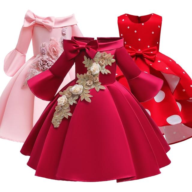 פרח ילדה רומנטי חתונה מסיבת משתה שושבינה כתף שמלת ילדה יום הולדת מסיבת ביצוע סעודת האדון מסיבת שמלה