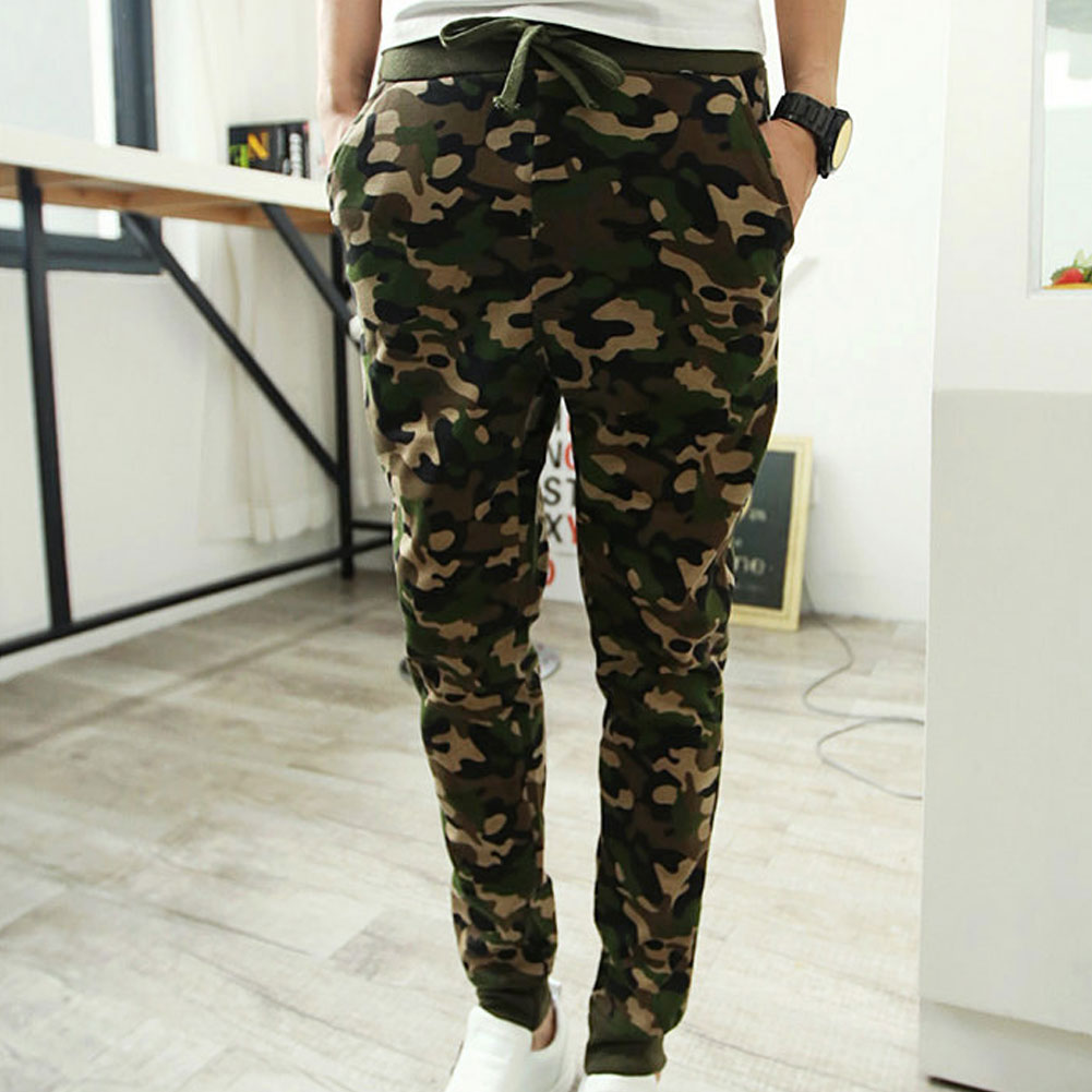 Men Camouflage Pants Outfit Pants Wild Casual Wearing Trousers