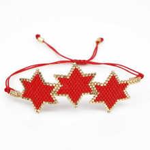 Shinus Delica MIYUKI Bracelet 3 Star Bracelets For Women Armband 2019 Pulseira Mujer Handwoven Women Boho Chic Summer Jewelry цена