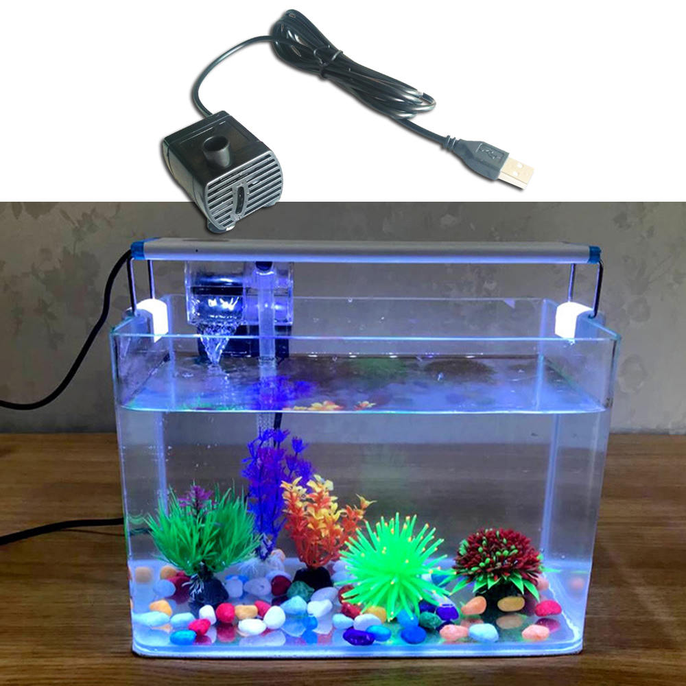 DC 5V Mini Brushless Motor Submersible <font><b>Water</b></font> <font><b>Pump</b></font> with USB Connector Brushless Motor <font><b>Pump</b></font> Home Fish Tank Pet Supplies image