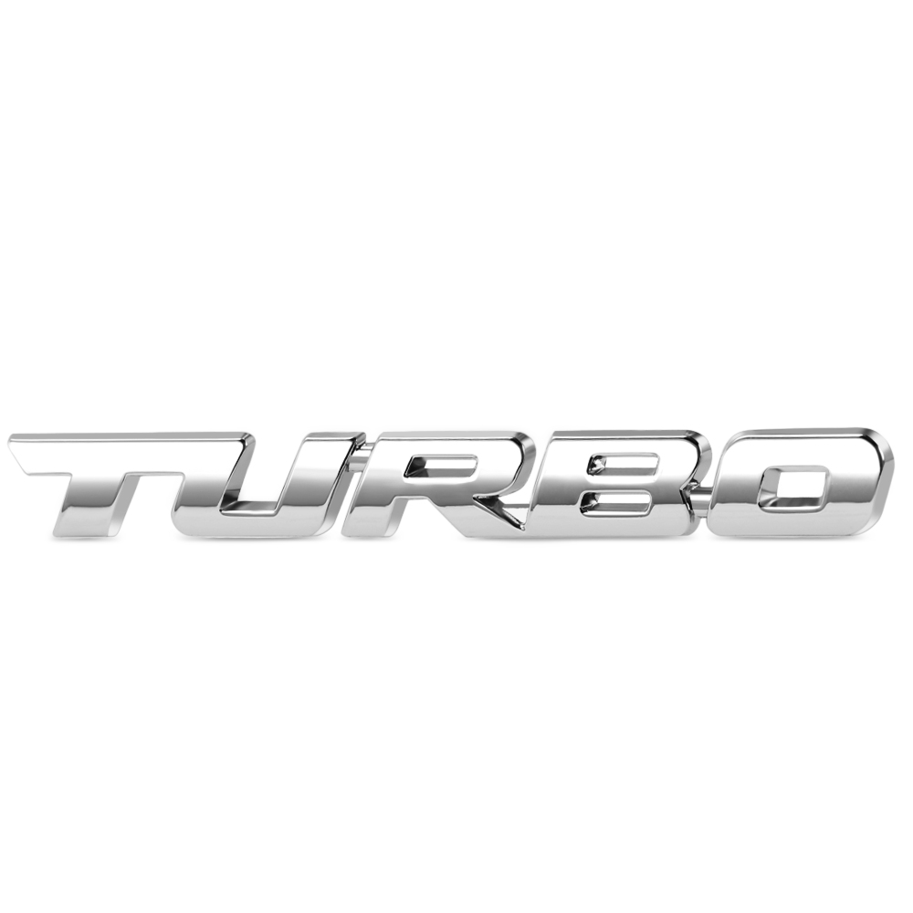 1.8 T Emblem Badge Stickers Logo Metal Chrome 3D For Audi VW Ford Hyundai