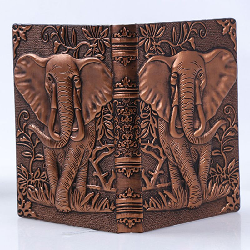 3D Elephant Embossed Notebook Journal Notepad Travel Diary Planner Business School Office Supplies 19QA image