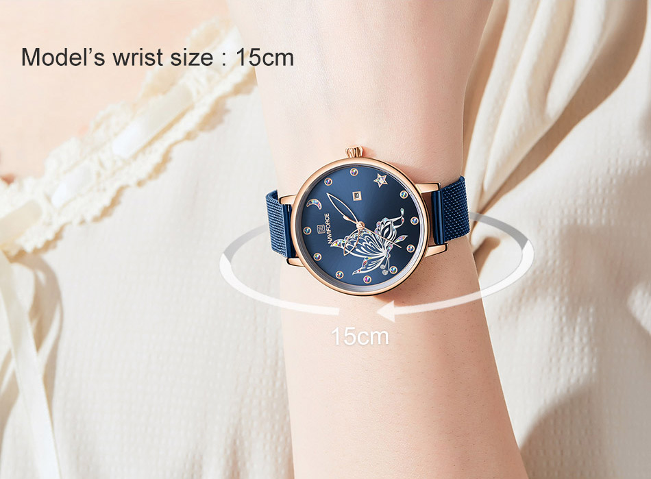 H713e6fdd1f77421fb94008cc17dda1d7P - NAVIFORCE Luxury Brand Watch Women Fashion Dress Quartz Ladies Mesh Stainless Steel 3ATM Waterproof Casual Watches for Girl