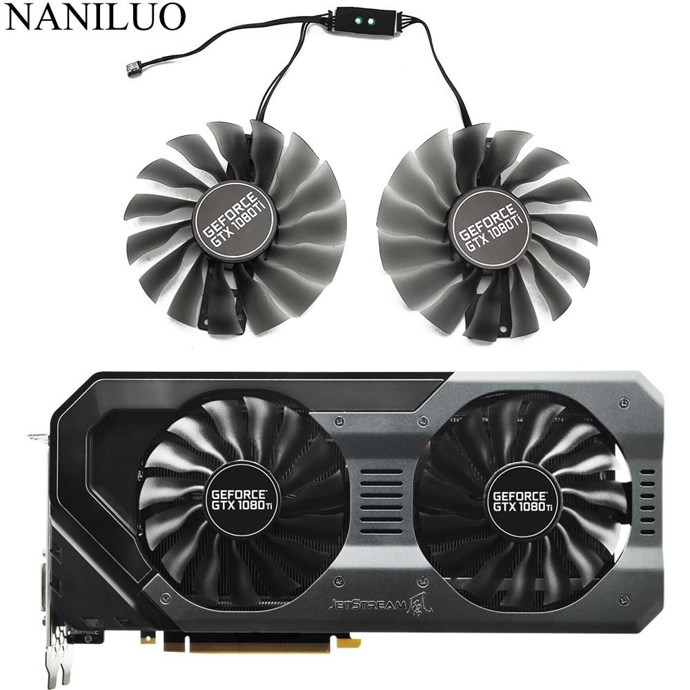 95MM FD10015H12S GAA8S2U Fan GTX 1080Ti GTX1080 Ti GPUCard Cooler For Palit EMTek GTX1080Ti Jetstream VGA Card Cooling Fan