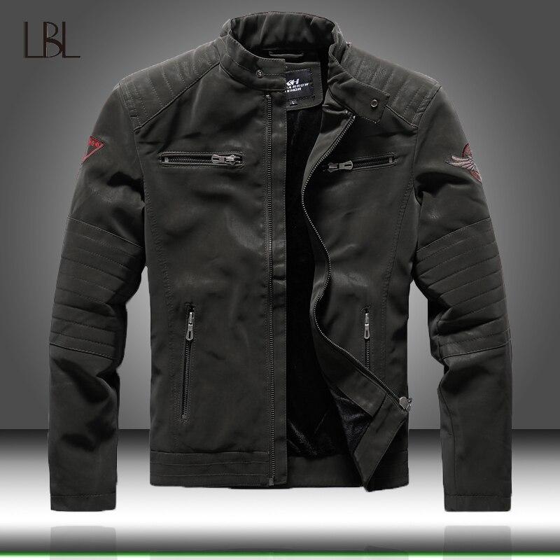 Зимняя мужская куртка-бомбер, Повседневная Военная Мужская верхняя одежда, флисовая Толстая теплая ветровка, мужская куртка из искусственн...
