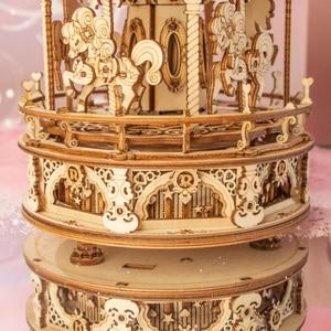 Robotime Rokr Musik Box 3D Holz Puzzle Spiel Montage Modell Bausätze Spielzeug für Kinder Kinder Geburtstag Geschenke AMK62