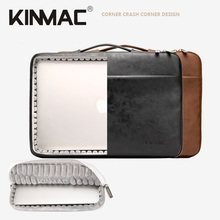 Kinmac брендов ые, экокожа (полиуретан), сумка для ноутбука 12,13,14,15, 15,6 дюймов, ударопрочный портфель чехол для ноутбука MacBook Air Pro 13,3, 15,4; Прямая по...