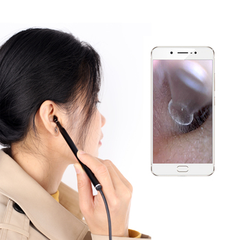 Medyczne czyszczenie uszu łyżka endoskopowa wsparcie Android PC Mini aparat do zbierania uszu usuwanie woskowiny wizualne ucho usta otoskop nosa tanie i dobre opinie JECPP CN (pochodzenie) visual otoscope Ear Mouth Nose Otoscope Do pielęgnacji uszu Composite material Home Dental