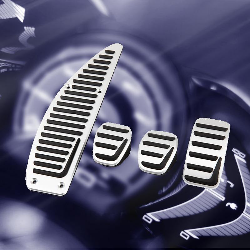 Pedal de embreagem do carro para carro, pedal de acelerador de gás do freio de carro para volvo s40 v40 c30 mt liga de alumínio automotivo acessórios de estilo