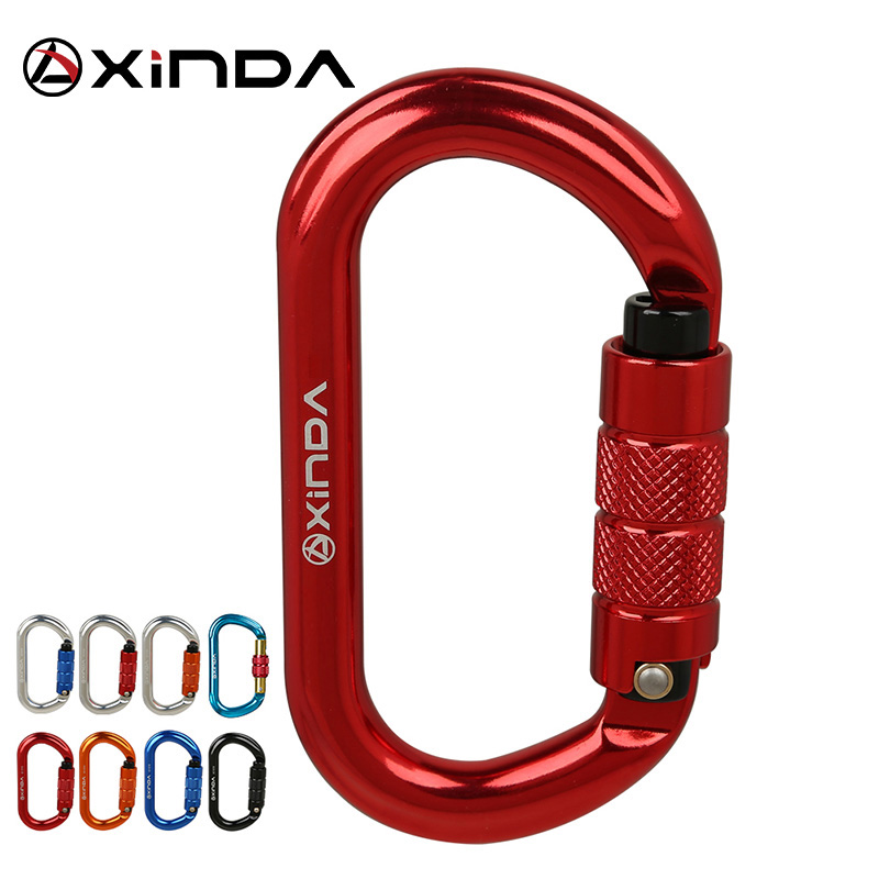 XINDA O-type Lock Buckle Automatic Safety Master Carabiner Multicolor 5500lbs Crossing Hook Climbing Rock Mountaineer Equipment