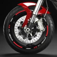 17 inch Wheel Sticker Vinyl Reflective Waterproof Decal for DUCATI Motorcycle