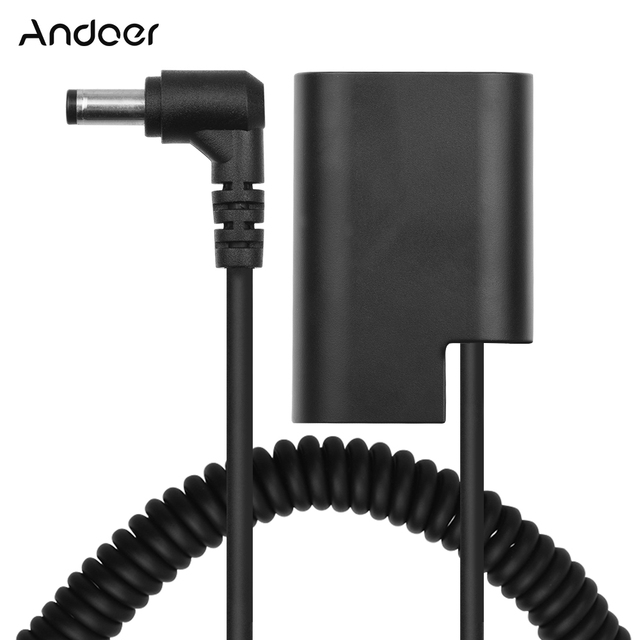 Andoer LP E6 Manequim Bateria DC Acoplador Conector Primavera Cabo de Substituição Bateria para Canon 5D2 5D3 5D4 6D 6D2 60D 7D 7D2