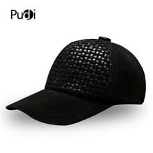 Pudiผู้ชายหนังเบสบอลหมวกหมวกฤดูหนาวใหม่ 2020 จริงหนังกีฬาTruckerหมวกหมวกสีดำสีน้ำตาลHL001